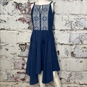 White House Black Market blue dress sz 2